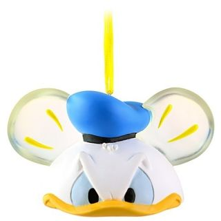 New Disney Parks Donald Duck Mickey Ear Hat Ornament Christmas Limited