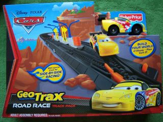 Disney Pixar Cars 2 Geo Track Dirt race track pack Fisher Price ages 2