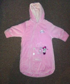 Disney Baby Girl Pink Minnie Mouse Winter Bunting Bag Sz 0 3 Months