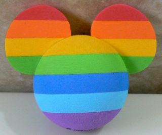 DISNEY MICKEY MOUSE RAINBOW COLORS CAR ANTENNA AERIAL TOPPER BALL