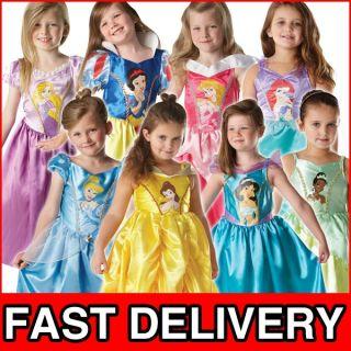 Disney Princess Girls Fancy Dress Kids Costume Childrens Child Outfit
