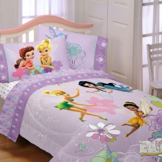 Disney Fairies Tinker Bell Purple Comforter Bedding Set