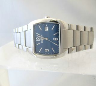 DKNY Donna Karan Men Watch NY 1109 Blue Dial with Date Stainless Steel