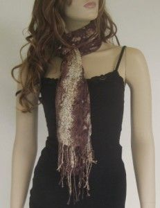 Dotti Ladies Reptile Animal Print Brown Scarf Wrap BNWT