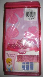 Disney Princess Pink Floral Window Curtain Valance New