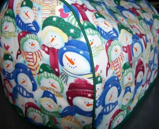 Packed Snowman Winter Quilted Fabric Cover 2 Slice Toaster New