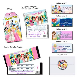 Disney Princess Party Favors Birthday Invitations
