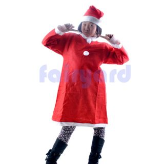New Merry Christmas Santa Claus Suit Set Cosplay Costume Cloth for