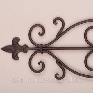 Wrought Iron Metal Wall Decor Grille Door Topper Pediment 91681