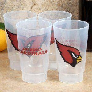 NFL Plastic Cups 4 12oz Arizona Cardinals