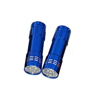 Pack Dorcy High Beam 9 LED Aluminum Flashlight Combo with Batteries