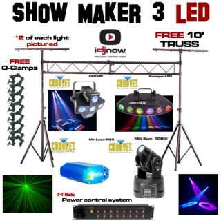 chauvet circus sweeper min laser truss dj led lights