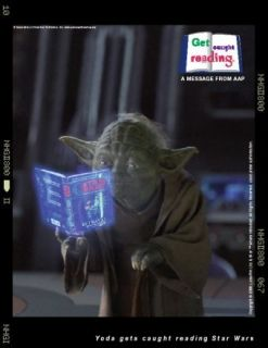 Star Wars Yoda Reading Book DK Publishing SDCC Poster