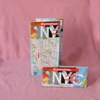 Map Laminated Manhattan Downtown Brooklyn NY Best Seller Full Subway