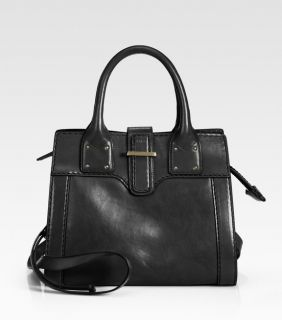 CHLOE Diane Black Leather Small Satchel Crossbody Messenger Handbag
