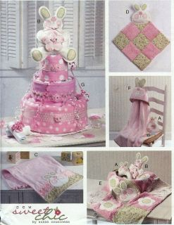 SHOWER Gifts Decoration Diaper CAKE Blankie Burp Cloth Sewing Pattern