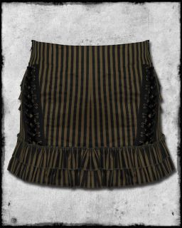 Spin Doctor Isis Black Brown Bronze Copper Stripe Corset Steampunk