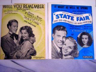 Lot 10 Sheet Music Booklets 40s Bing Crosby Doris Day