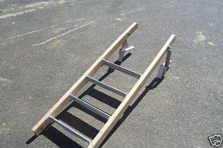 Step Dock Ladder with Hinge Kit and Cedar Handrails