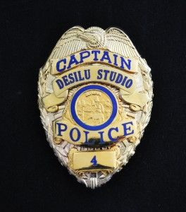 Obsolete Desilu Studio Police US Police Badge HMD