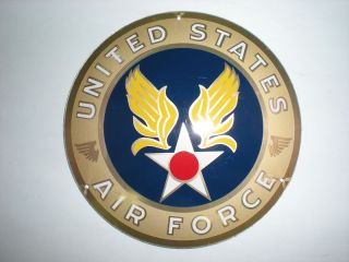 USAF Metal Plaque Plate Beautiful