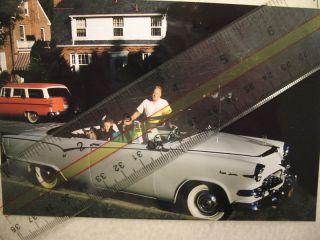 1955 DODGE ROYAL LANCER CONVERTIBLE 1955 Ford St Wagon old car photo 4