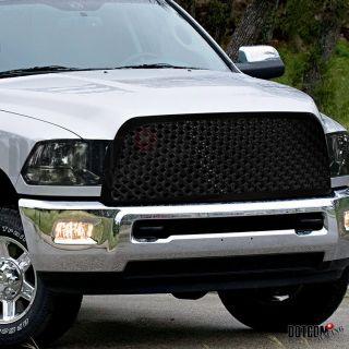 2009 2010 Dodge RAM 1500 Smoke Diamond Headlights Mesh Style Hood