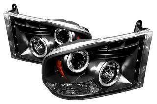 IPCW 07 09 Dodge Ram Halo Projector Headlights, Black Truck Lights CWS
