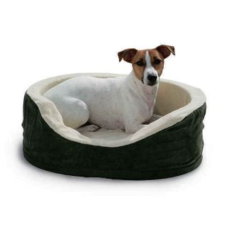 HEATED PET DOG BED SMALL BED SNUGGLE UP ORTOPEDIC HEATED DOG BED