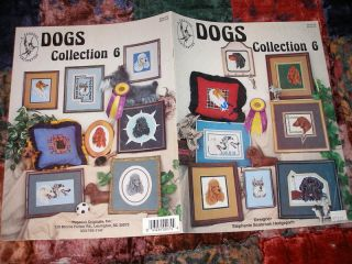 DOG CROSS STITCH PATTERN COLLECTION SHARI PEI COLLIE SCHNAUZER