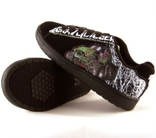 Monster Jam Grave Digger Boys Suede Sneakers Shoes