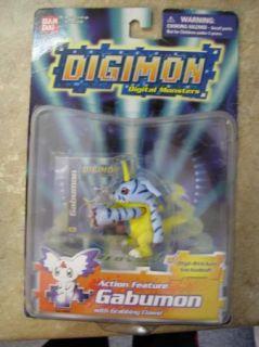Digimon Action Figures Toy Ban Dai Gabumon New in Pkg