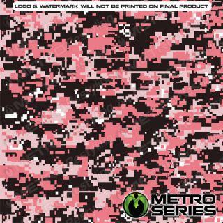 HD Digital Pink Camouflage Vinyl Wrap Film 3M 1080 Controltac Adhesive