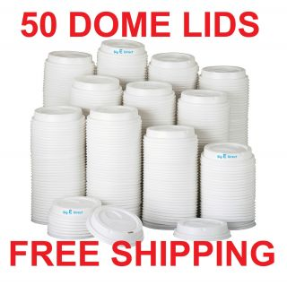 Dixie Dome Drink Thrugh Lids for Perfectouch Hot Paper Cups 50 Lids