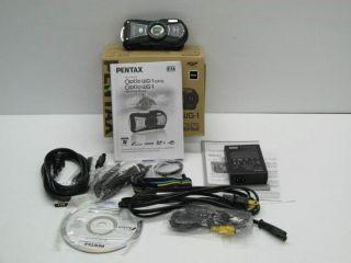 pentax optio wg 1 14mp waterproof digital camera 5x optical zoom black