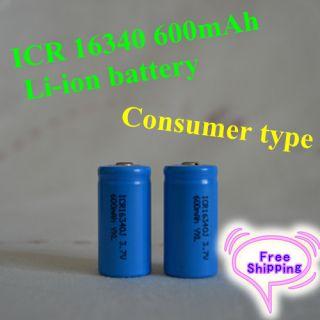 16340 3 6V Rechargeable Li ion battery Digital camera LED flash light