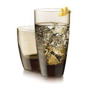 Mocha 16 Piece Glassware Drinkware Set Glasses Dishwasher Safe Made In