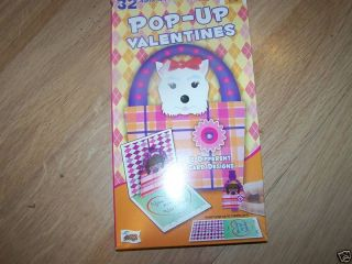 Box of 32 Diva Dog Pop Up Valentines Day Cards Puppy NW