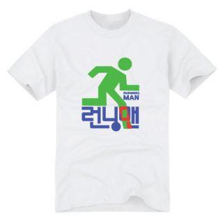 k013 runningman graphic tshirts korean tv series drama t shirt white S