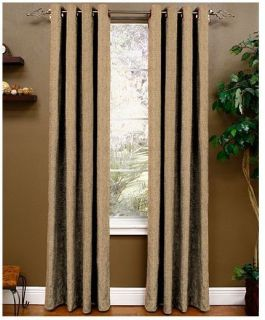 Miller Curtains Berman Lined Grommet Window Panel Caramel 50 x 95