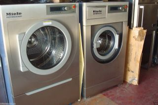 Miele Little Giant Washer and Dryer Set New Stainless Steel