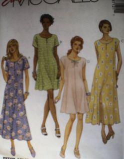 Uncut McCalls Pattern Easy Fitting Flared Dress 8712 FF