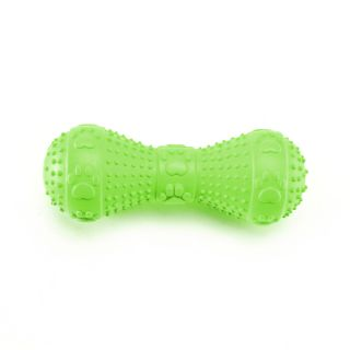 New Squeaker Rubber Dumbbell Dog Toy 4 75 for Pet Dog Puppy