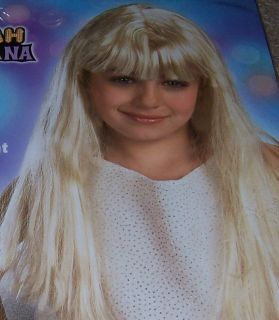 DISNEY HANNAH MONTANA Child size long blonde WIG dress up little girl