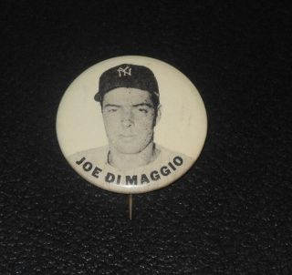 PM10 Baseball Player Pin Button Coin Joe DiMaggio Yankees
