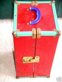 Doll Clothes Closet Collector 1950 Metal Storage Chest