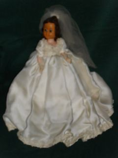 Vintage 11 Hard Plastic Bride Doll w Open Close Eyes
