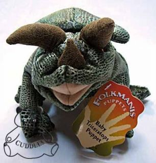 Triceratops Dinosaur Hand Puppet Folkmanis Plush Toy Stuffed Animal