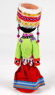 Wooden Chinese Doll in Traditional Dress Beautiful Handmade New CD