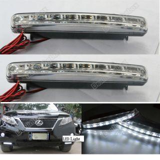 New 2X Car 8 LED DRL Driving Daytime Running Day LED Light Head Lamp